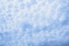 Sky with clouds abstract pattern background Stock Photography