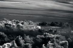 Sky with clouds aerial view Royalty Free Stock Images