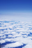Sky with clouds from an altitude of flight Stock Image