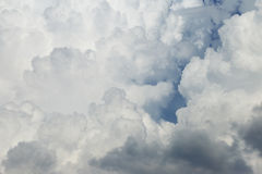 Sky with clouds as background. Stock Photos