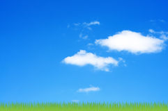 Sky and clouds background. Stock Images