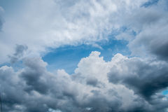 Sky and clouds. Sky clouds background blue cloud white nature, beauty color summer natural light environment high heaven fluffy air beautiful  abstract  spring Royalty Free Stock Photos