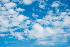 Sky and clouds. Sky clouds background blue cloud white nature, beauty color summer natural light environment high heaven fluffy air beautiful  abstract  spring Stock Image