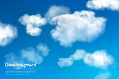 Sky clouds background Royalty Free Stock Photos