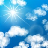 Sky clouds background Stock Image