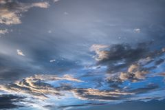 Sky clouds background Royalty Free Stock Photo