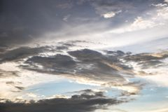 Sky clouds background Royalty Free Stock Images