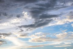 Sky clouds background Stock Photos