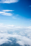 Sky and clouds. Background skylight blue Stock Photography