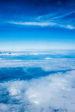 Sky and clouds. Background skylight blue Royalty Free Stock Images
