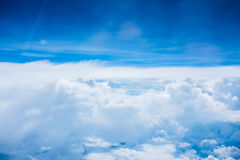 Sky and clouds. Background skylight blue Stock Image