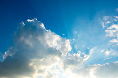 Sky and clouds. Background skylight blue Royalty Free Stock Photography