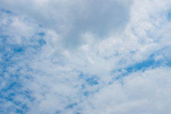 Sky and clouds. Background skylight blue Stock Photos