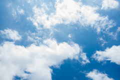 Sky and clouds. Background skylight blue Royalty Free Stock Image