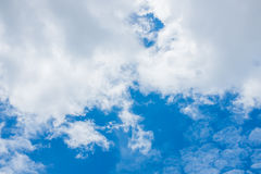 Sky and clouds. Background skylight blue Stock Images