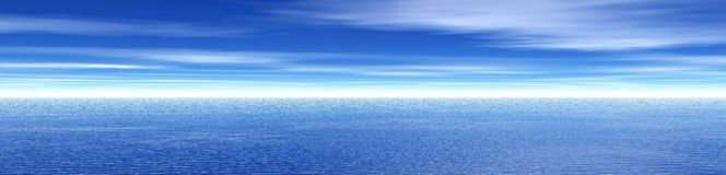 Sky and clouds banner Stock Photography