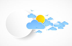 Sky with clouds banner Stock Images