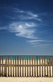 Sky with clouds on the beach Royalty Free Stock Photos