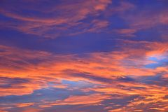 The sky with clouds beatiful sunrise background Royalty Free Stock Images