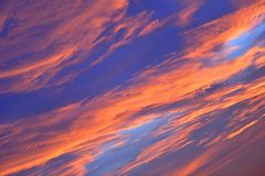 The sky with clouds beatiful sunrise background Stock Image