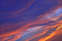 The sky with clouds beatiful sunrise background Royalty Free Stock Photos