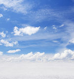 Sky with clouds. Beautiful blue sky with clouds Stock Photo