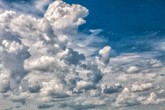 Sky and clouds. Beautiful blue sky with clouds Royalty Free Stock Images