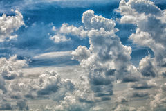 Sky and clouds. Beautiful blue sky with clouds Royalty Free Stock Photos