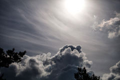 Sky and clouds. Beautiful blue sky with clouds Royalty Free Stock Photo
