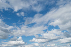 Sky and clouds. Royalty Free Stock Photos