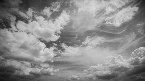 Sky and clouds in black and white colors Royalty Free Stock Image