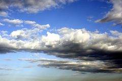 Sky and Clouds. Blue sky with clouds Stock Images