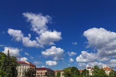Sky and clouds. Blue sky background Stock Photos