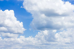 Sky & clouds. Blue sky background with cloud . background of blue sky Royalty Free Stock Image