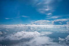Sky and clouds. Sky clouds blue background white cloud beauty color day clear cloudscape cumulus sunlight weather beautiful nature summer light space season Stock Photos
