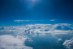 Sky and clouds. Sky clouds blue background white cloud beauty color day clear cloudscape cumulus sunlight weather beautiful nature summer light space season Stock Image