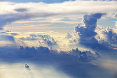 Sky and clouds - blue heavenly daylight Royalty Free Stock Photo