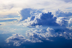 Sky and clouds - blue heavenly daylight Royalty Free Stock Photos