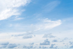 Sky and clouds. Blue sky clouds and skies daytime Royalty Free Stock Photo