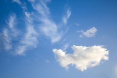 Sky with clouds. Blue sky with white clouds royalty free stock photos