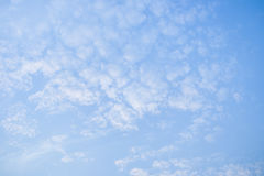 Sky and clouds. Blue sky and white clouds Stock Photo