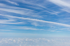 Sky and clouds. Blue sky and white clouds Stock Photography