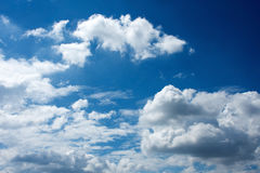 Sky with clouds. Blue sky with white clouds Royalty Free Stock Photo