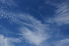 Sky with clouds. The blue sky with white clouds Royalty Free Stock Image