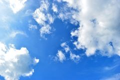 Sky and clouds. Blue sky and white clouds on a beautiful day Royalty Free Stock Photography