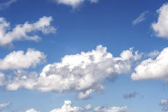 Sky and clouds. Blue Sky and white clouds  ...etc Royalty Free Stock Images
