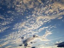 Sky and clouds. Blue and white nature Royalty Free Stock Image