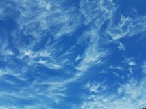 Sky and clouds. Blue and white nature Royalty Free Stock Photo
