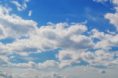 The sky in the clouds. The sky in the bright clouds Stock Photography