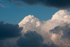 Sky with clouds and clouds Royalty Free Stock Photo